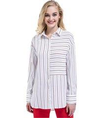 blusa oversize rayas blanco/rojo nicopoly