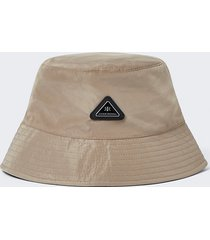 river island mens stone nylon bucket hat