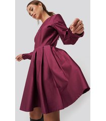 na-kd party box pleat mini dress - pink