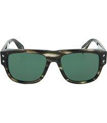 54mm avana tortoise rectangular sunglasses