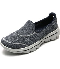 tenis training azul-gris skechers