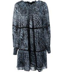 michael michael kors zebra tenty mini dress