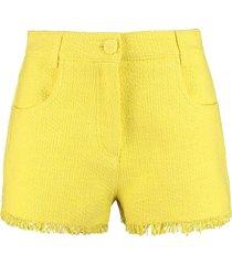 msgm cotton-linen blend shorts