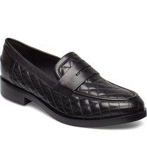 donna brogue a loafers låga skor svart geox