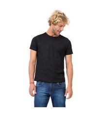 t-shirt básica fit preto preto/m
