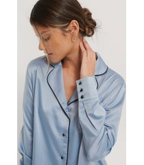 na-kd lingerie skjorta - blue