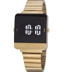 relógio digital seculus masculino - 220871gpsvda1 dourado