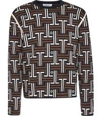 lanvin monogram crewneck sweater