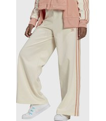 pantalón adidas originals track pants beige - calce holgado