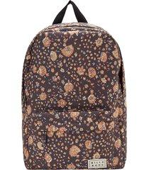 billabong next time leopard print utility backpack - black