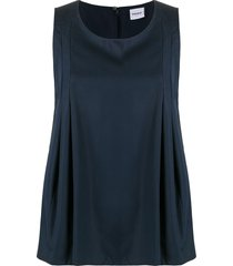 aspesi flared vest top - blue