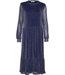 rebecca dress jurk knielengte blauw modström