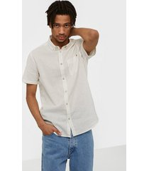 solid bill ss bd linnen shirt skjortor offwhite