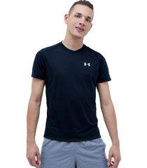camiseta negro under armour streaker 2.0 shortsleeve