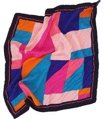 pañuelo fucsia nuevas historias plisado formas geométricas ba1303bis