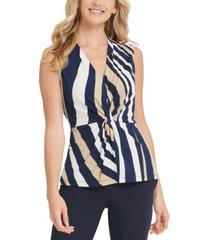 dkny striped twisted top