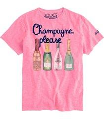 champagne, please print man t-shirt