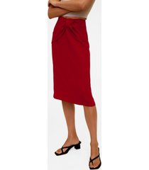 mango women's knot pencil skirt