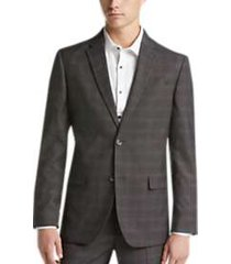 ben sherman gray plaid extreme slim fit suit