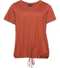 t shirt short sleeves plus adjustable drawstring t-shirts & tops short-sleeved orange zizzi