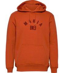 brand hooded sweatshirt hoodie trui oranje makia