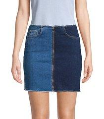 mercer two-tone zip mini skirt
