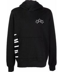 amiri star-print logo hoodie