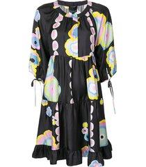 cynthia rowley penelope blossom print dress - multicolour
