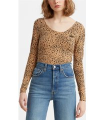 levi's rosie cotton printed bodysuit