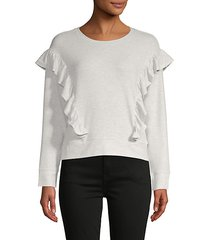 primrose ruffle sweatshirt