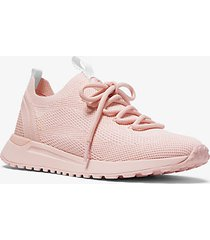 mk sneaker bodie in mesh - powder blush - michael kors