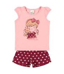 conjuntos rosa chá bebê menina cotton ref:37507-872 conjuntos rosa bebê menina cotton ref:37507-872-p