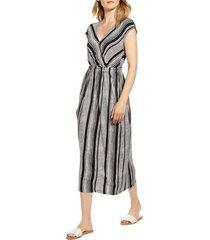 women's bobeau danielle variegated stripe jersey midi dress