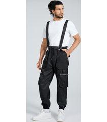 liguero casual con cordón de moda para hombre carga pantalones