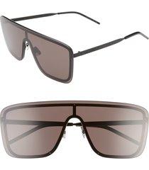 men's saint laurent 99mm flat front shield sunglasses -