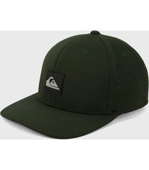 gorra verde quiksilver flexfit