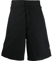 marcelo burlon county of milan bermuda track shorts - black