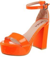 sandalia naranja flúo msk flex orange
