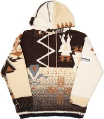aries oversized ikat fleece hoodie