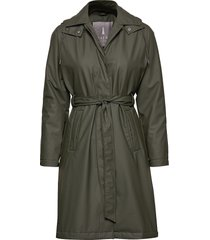 w trench coat regenkleding groen rains