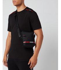 hugo men's record rl zip pouch - black