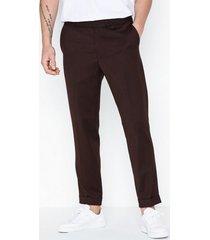 filippa k m. terry cropped trouser byxor shiraz