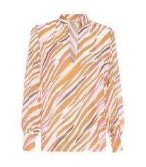 camisa feminina zebra - animal print