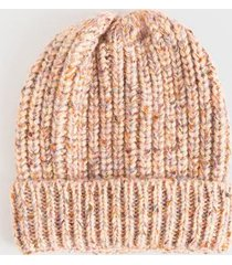 deane speckled yarn beanie - pink