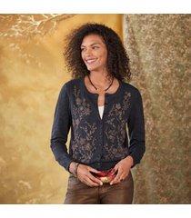 sundance catalog women's winter garden cardigan in cinder xs