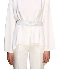 alberta ferretti belt alberta ferretti rope belt with knot