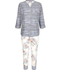 pyjama mona ecru::marine::terracotta