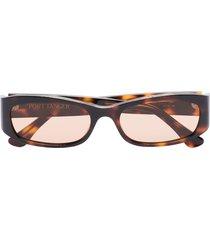 port tanger leila tortoiseshell sunglasses - brown