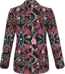 blazer met lange mouwen en reverskraag van emilia lay multicolour