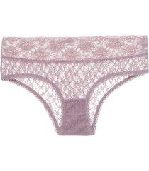 calcinha caleçon renda sweet lace loungerie - nude